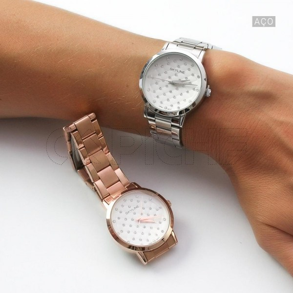 Relógio em aço Diamond