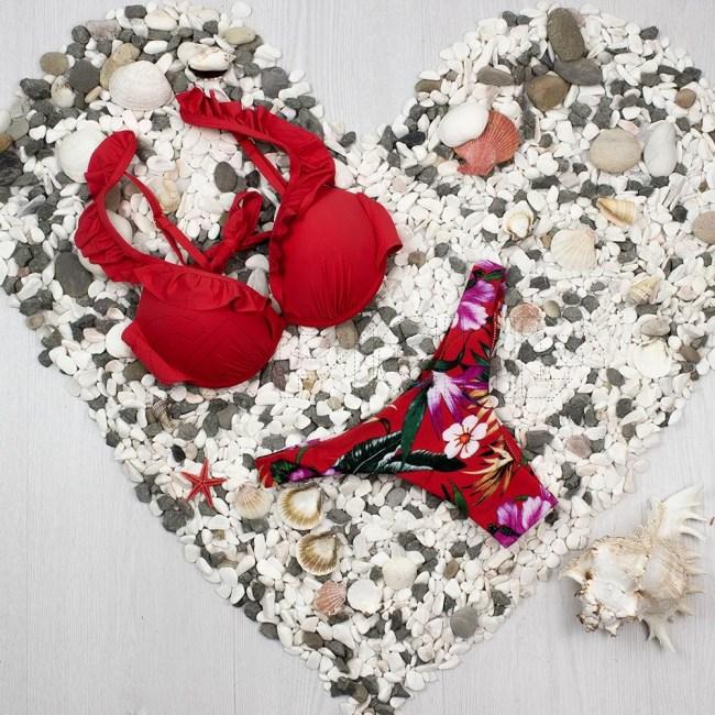 Bikini Folhito vermelho