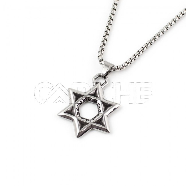 Colar masculino Estrela David
