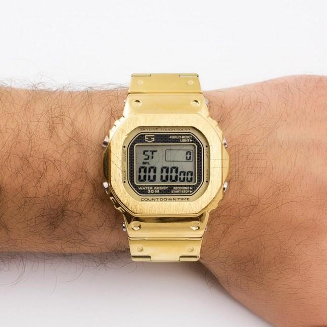 Relógio Digital em Aço Digit gold