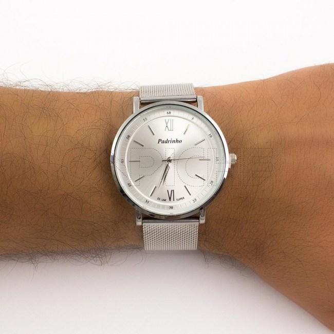 Relógio em aço Padrinho