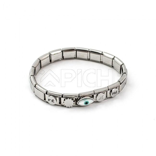 Bracelete em aço Simbol V