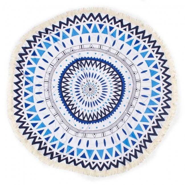 Mandala Tribal Azul Fino