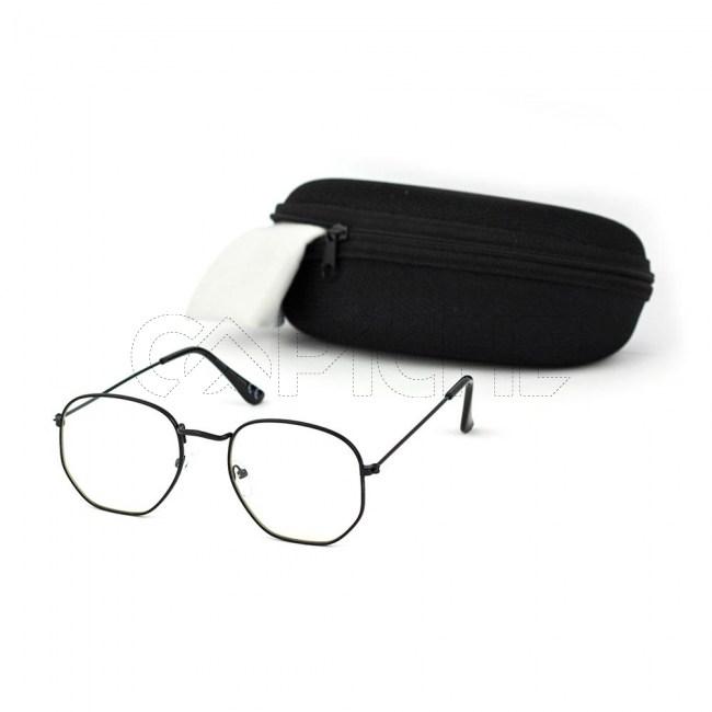 Óculos Estéticos Exagon Clear Black