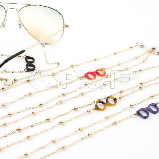 Fio/Cordão Metal Dourado p/ óculos