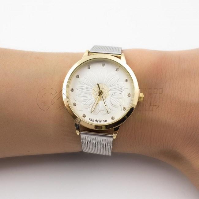 Relógio Madrinha Dourado
