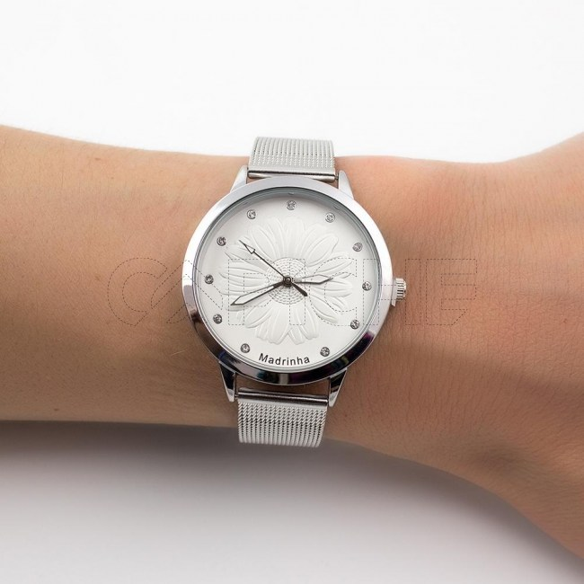 Relógio Madrinha Prateado