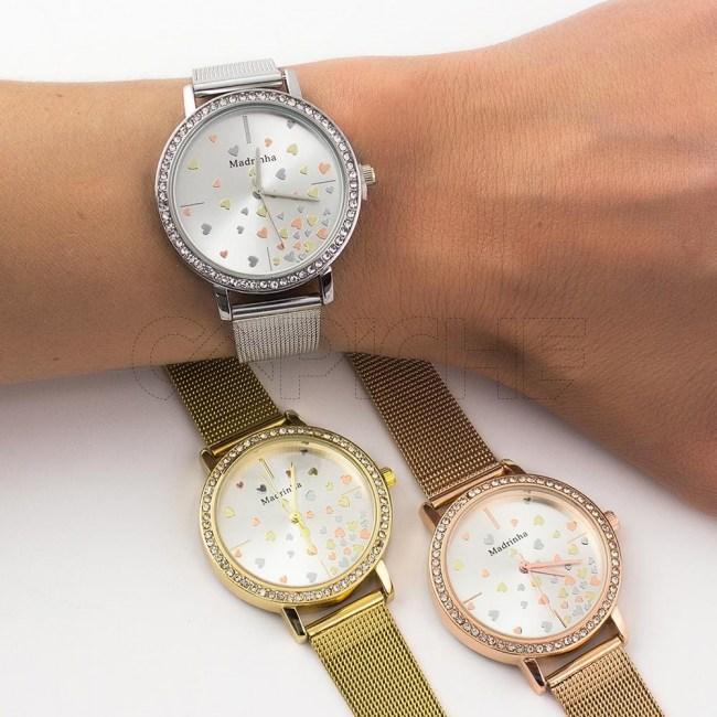 Relógio em aço Madrinha Amor