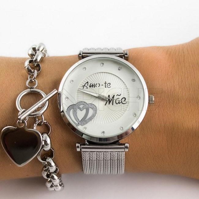 Relógio Aço Adoro-te Mãe