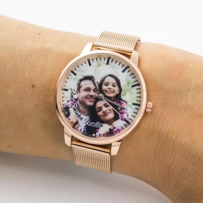 Relógio em Aço Personalizado com foto
