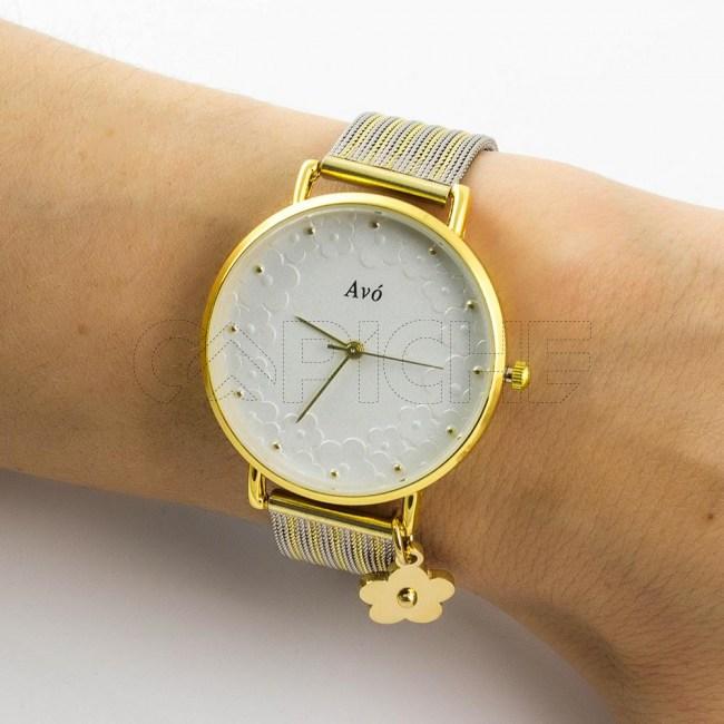 Relógio em aço Avó