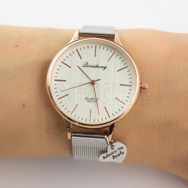 Relógio em aço Adoro-te