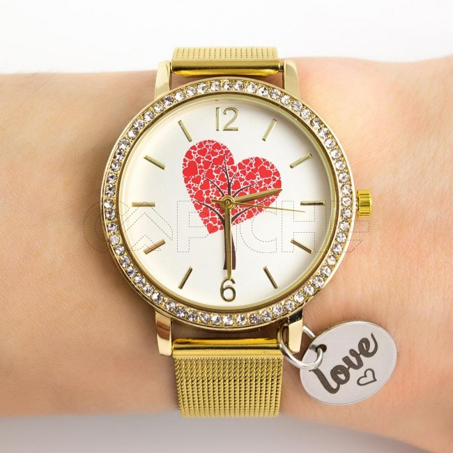 Relógio em Aço Love