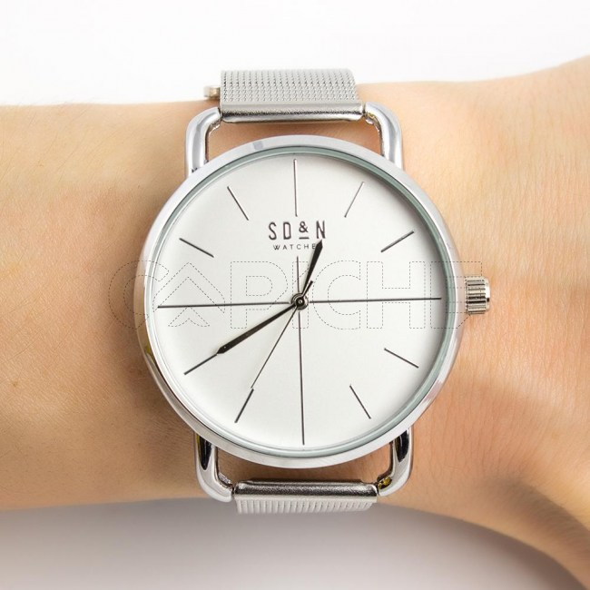 Relógio Stop Prata
