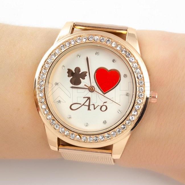 Relógio Avó Rose gold