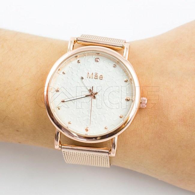 Relógio Mãe flores