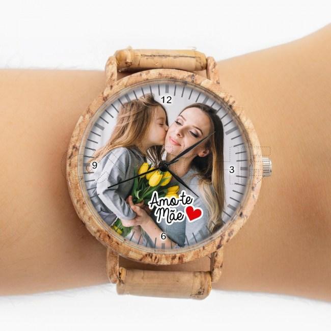 Relógio C/ Foto em cortiça