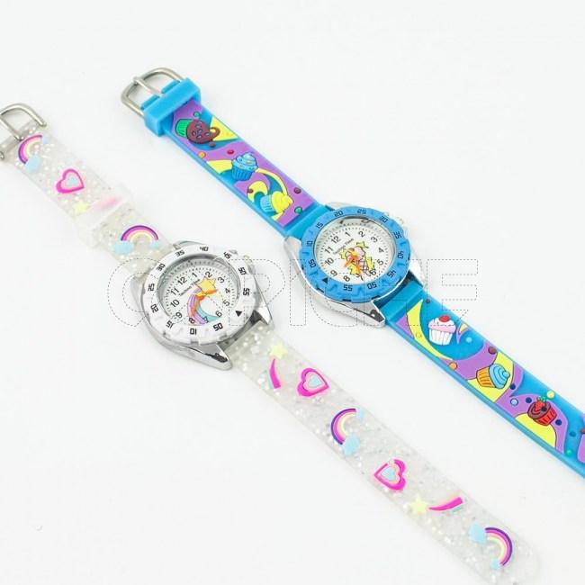 Relógio Criança Corações / Cupcake