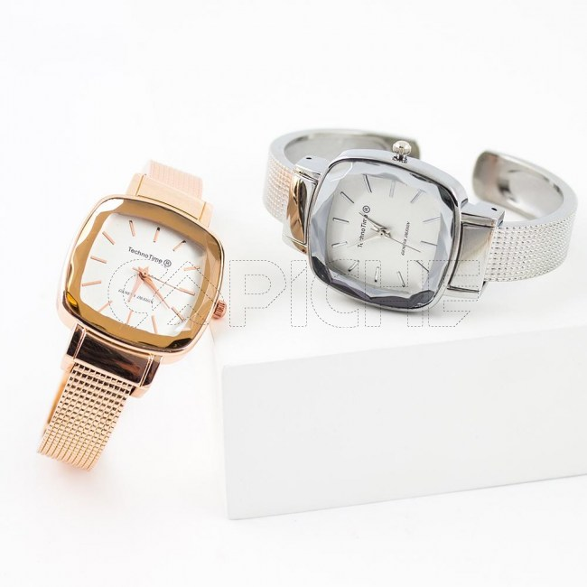 Relógio Pulseira Squari prata
