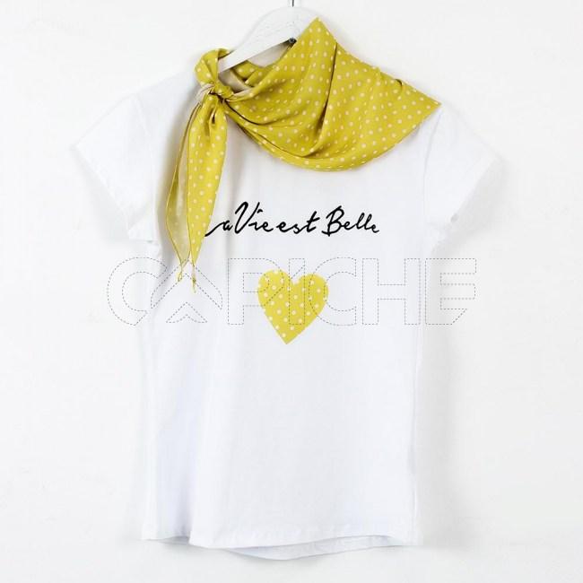 T-Shirt Lenço Pinta Amarelo
