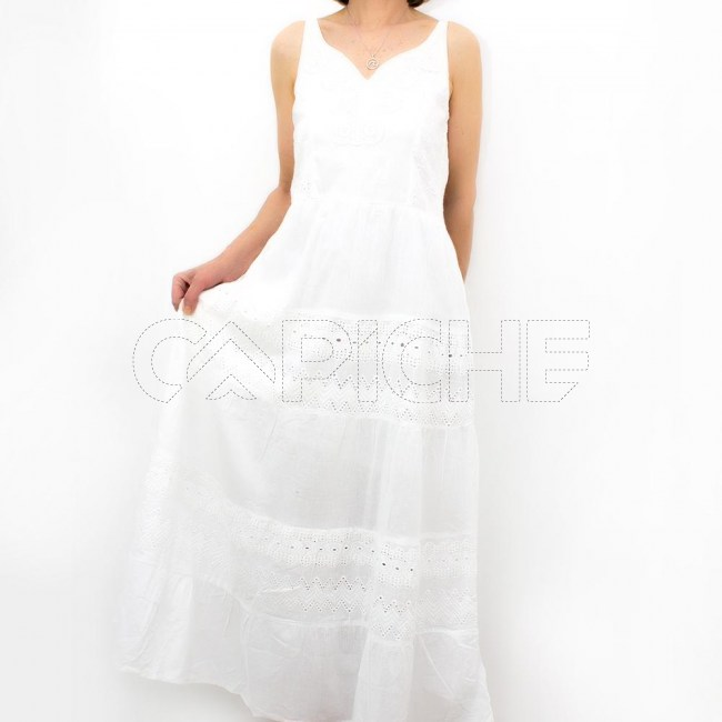Vestido Alça Bordado