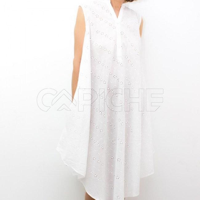 Vestido Sino Bordado Inglês
