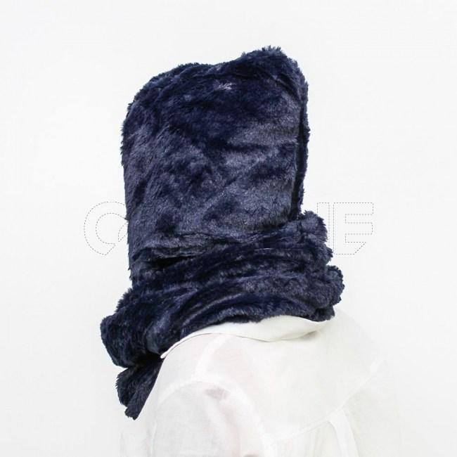 Gola capuz azul