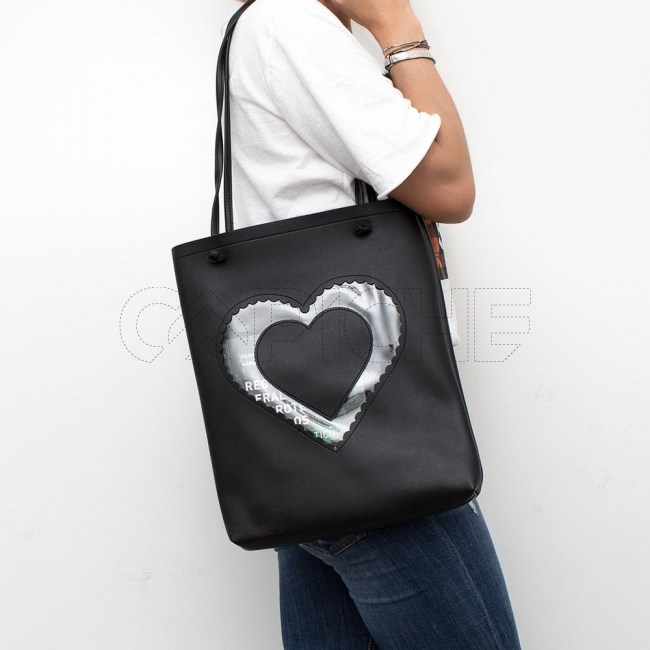 Mala Coração preto