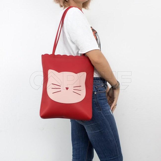 Mala Gato vermelho