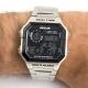 Relógio Digital Wolf Prata
