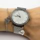 Relógio Floral com pendente prata