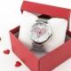 Relógio Love Prateado
