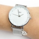 Relógio Coração Avó prata